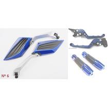 Kit Retrovisor Manopla+manete Cb300/xre/fazer/xtz/cbx250