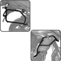 Kit Versys 1000 2015+ Suporte Bau Lateral Protetor Pedaleira