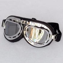 Oculos Proteção Goggle Vintage Goggles Aviador Moto Aberto