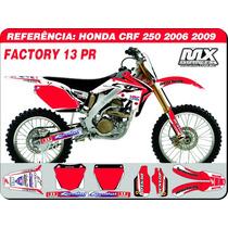Kit De Adesivos-crf 250 2006 2009 -factory 13 - Qualidade 3m