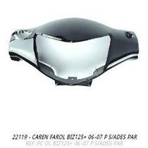 Carenagem Farol Biz+ 125 2006 - 2007 Preto S/adesiv + Brinde