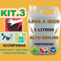 Kit Lava Carro A Seco 5 Litros Alto Brilho Magic Tuning