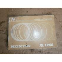 Manual Do Proprietário Honda Xl 125 S