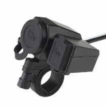 Tomada 12v E 5v Usb P/ Moto Carrregador Celular Gps