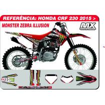 Adesivos-crf 230 2015 - Monster Zebra - Qualidade 3m