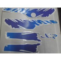 Jogo De Faixa Mobilete (caloi Xr 96) Azul