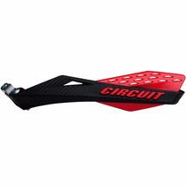 Protetor De Mão Circuit Modelo Fenix Carbon Preto E Vermelho