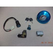 Kit Chave Ignição E Travas Honda Cg 125 Titan 2000 / 2001