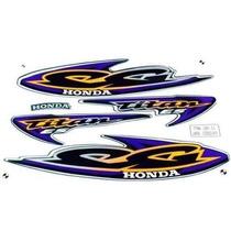 Kit Jogo Adesivo Honda Titan125 Es 2000 Verde