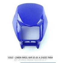 Carenagem Farol Nxr Bros 2005-2006 Azul S/adesivo