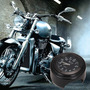 Relógio Para Moto Custom All Black Quartz Peça Luxuosa