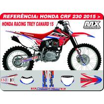 Adesivos-crf 230 2015 -honda Racing Canard - Qualidade 3m