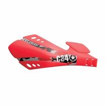 Protetor De Mão Circuit Sx Vermelho Motos Com Freio A Disco