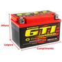 Bateria Motos Gel Pronto P/ Uso Biz 100 Titan 125 Hunter Web
