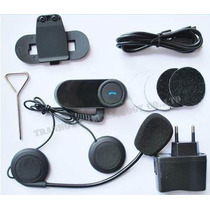 Intercomunicador Bluetooth Capacete Moto Gps Mp3 Fm - Novo!!