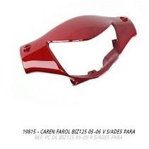 Carenagem Farol Biz125 2005-2006 Vermelho S-adesivo