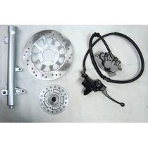 Sistema Freio Dianteiro Nxr125 & 150 Bros Canela Pinça Cubo