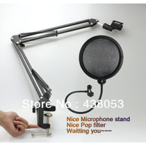 Pedestal Para Microfone Estúdio, Retrátil, Articulado Radio