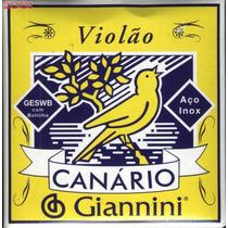 Corda Avulsa De Aço Para Violão Giannini Canário