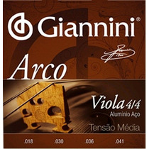 Cordas Para Viola De Arco Giannini Encordoamento 4 Cordas