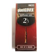 Palheta Sax Soprano Rico Plasticover 2 ½ Caixa C/ 5 Unid.