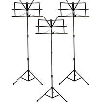3 Estantes Para Partitura Pedestal Retrátil Suporte Dobrável