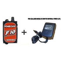 Amplificador De Fone De Ouvido Power Click F10 + Fonte Ps01