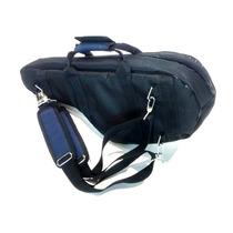 Capa Bag Para Sax Alto Milenium Preto C/azul