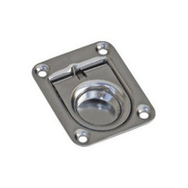 Puxador De Tampas / Portas Em Inox C/ Mola - 55x65mm