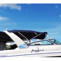 Capota / Toldo Para Lancha Focker 255 / Outras Cor Azul