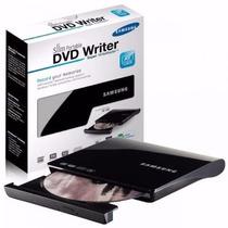 Gravador Leitor Slim Externo Samsung Cd Dvd Usb Preto Mac