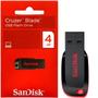 Pen Drive Sandisk Cruzer Blade 4gb 100% Original Lacrado
