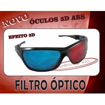 Óculos 3d Com Filtro Óptico Abs