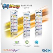 Bateria 3.0 Para Placa Mãe Elgin Cr 2032 Cartela Com 5 Peças