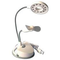 Luminária Ventilador Usb Lâmpada Led Pc Computador Notebook
