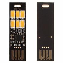 Soshine - 1 Mini Luz Usb 6 Led Portátil Com Dimmer Luminária