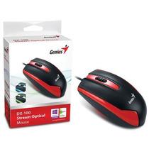 Mouse Genius 31010009108 Dx-100 Usb Vermelho