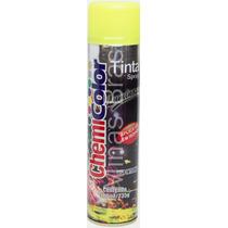 Tinta Luminosa Spray 380ml - Amarela - Brilho Intenso Na Luz