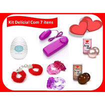 Kit Delícia! 7 Produtos De Sexshop-algema/vibrador/anel E ++
