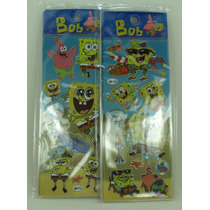 Bob Esponja Adesivos Stickers Kit Com 12 Cartelas Lindos
