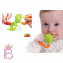 Alimentador Bico Silicone P/ Bebê C/ Tampa Fruta Carne Legum
