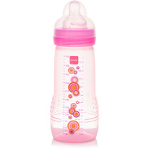 Mamadeira Mam Fashion Bottle Rosa Anti Cólica - 330 Ml