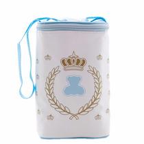 Frasqueira Térmica E Porta Mamadeira Duplo G Lipi Baby Azul