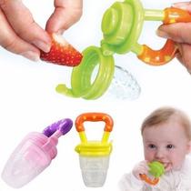 Alimentador Bico Silicone Bebê C/ Tampa Fruta Carne Legumes