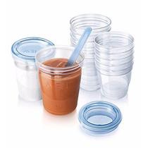 Kit 10 Copos Armazenamento Leite Papinha Avent Freezer/micro