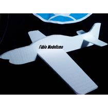 Avião Pipa Isopor Modelo Tucano Sem Pintura