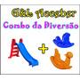 Escorregador Infantil Médio + Gangorra Cavalinho + Nhoca
