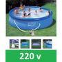 Piscina Intex 12430 Litros 220v Bomba Filtro Escada Capa