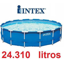 Piscina Intex 24.310 L Com Metal 5,49 X 1,22 Filtro Escada