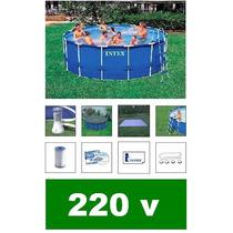 Piscina Intex 12422 Litros Escada Capa Bomba Filtro 220v